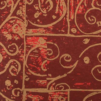 Луксозни опаковки - Burgundy swirls