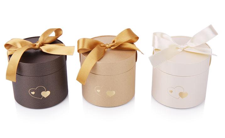 Луксозни опаковки - Тубус с панделка за бонбони и шоколад 03