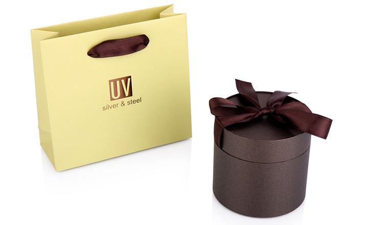 Луксозни опаковки - Тубус с панделка за бижута и часовници