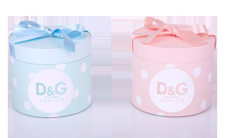 Луксозни опаковки - Тубус с панделка за бебешки дрешки