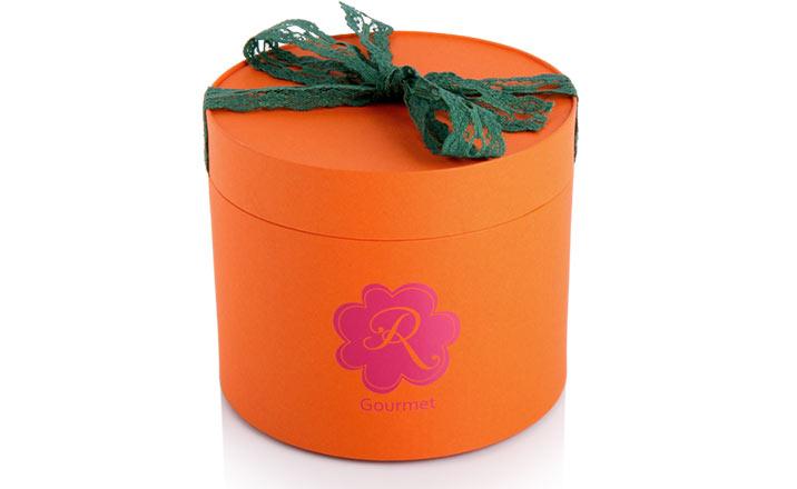 Луксозни опаковки - Тубус с панделка за гурме
