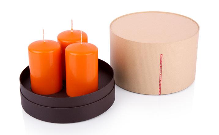 Луксозни опаковки - Тубус за свещи