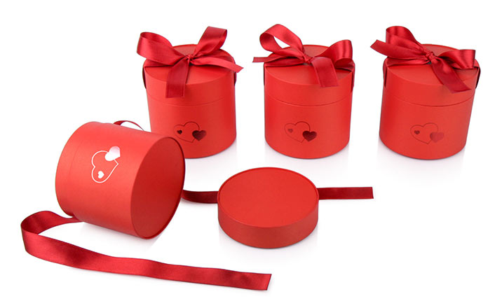 Луксозни опаковки - Тубус с панделка за бонбони и шоколад 02