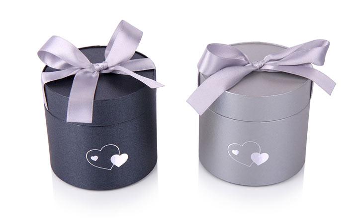 Луксозни опаковки - Тубус с панделка за бонбони и шоколад 04