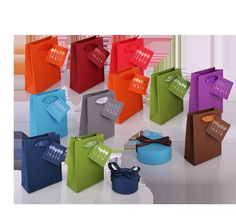 Луксозни опаковки - Луксозни хартиени чанти с картичка